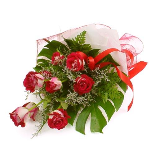 çiçek gönder 7 adet kirmizi gül buketi  Ankara online çiçek gönderme sipariş