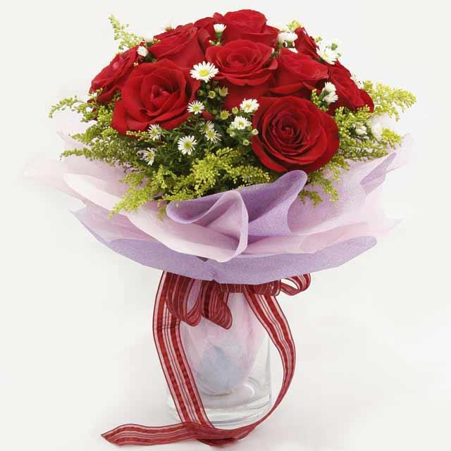Çiçek gönderme estetikliginiz 11 gül buket  Ankara 14 şubat sevgililer günü çiçek