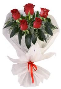 5 adet kirmizi gül buketi  Ankara çiçek online çiçek siparişi