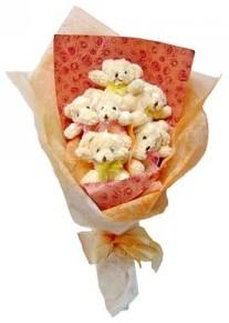 12 adet ayiciktan buket  Ankara anneler günü çiçek yolla