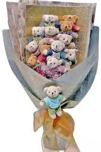 12 adet ayiciktan buket tanzimi  Ankara güvenli kaliteli hızlı çiçek