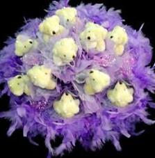 11 adet pelus ayicik buketi  Ankara ucuz çiçek gönder