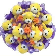 11 adet pelus ayicik buketi  Ankara çiçek siparişi vermek