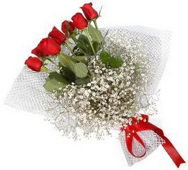 7 adet essiz kalitede kirmizi gül buketi  Ankara internetten çiçek satışı