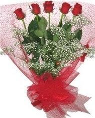 5 adet kirmizi gülden buket tanzimi  Ankara çiçek gönderme