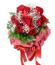 9 adet en kaliteli gülden kirmizi buket  Ankara internetten çiçek siparişi