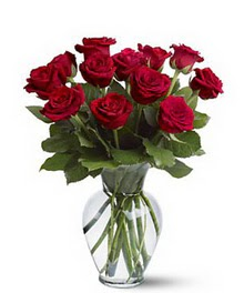 Ankara İnternetten çiçek siparişi  cam yada mika vazoda 10 kirmizi gül