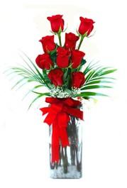Ankaraya çiçek yolla  9 adet mika yada cam vazoda gül tanzimi