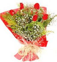 Ankara çiçek siparişi sitesi  5 adet kirmizi gül buketi demeti