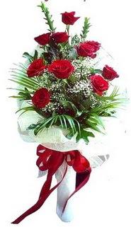 Ankara çiçek satışı  10 adet kirmizi gül buketi demeti