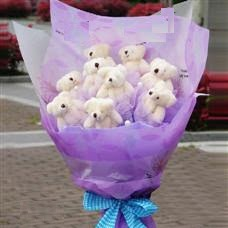 Ankara online çiçekçi , çiçek siparişi  11 adet küçük ayiciktan görsel ayi buketi