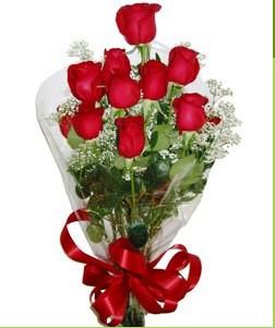 Ankara online çiçekçi , çiçek siparişi  10 adet kırmızı gülden görsel buket