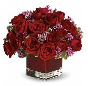 11 adet kırmızı gül vazosu  Ankara çiçek online çiçek siparişi