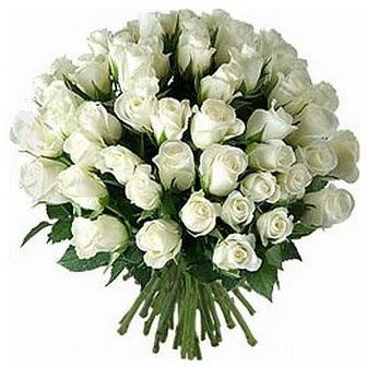Ankara internetten çiçek siparişi  33 adet beyaz gül buketi