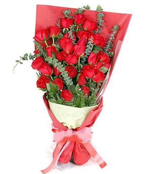 Ankara çiçekçi telefonları  37 adet kırmızı güllerden buket