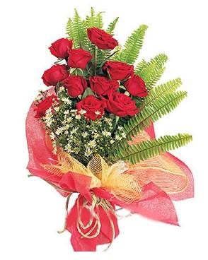 Ankarada çiçek gönderme sitemiz güvenlidir  11 adet kırmızı güllerden buket modeli