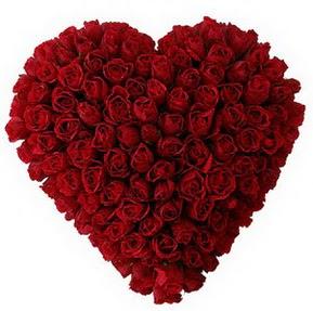Ankara 14 şubat sevgililer günü çiçek  muhteşem kırmızı güllerden kalp çiçeği