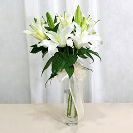 Ankara çiçek siparişi sitesi  2 dal kazablanka ile yapılmış vazo çiçeği
