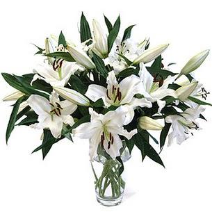 Ankaraya çiçek yolla  3 dal görsel casablanca vazo tanzimi