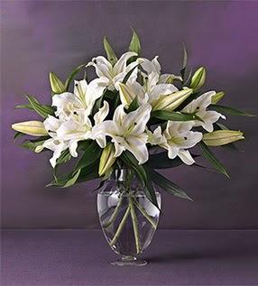 Ankarada çiçek gönderme sitemiz güvenlidir  4 dal cazablanca vazo çiçeği