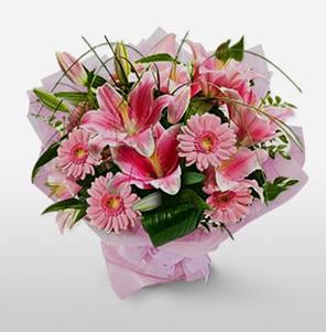 1 dal kazablanka ve kır çiçek görsel buketi  Ankara hediye sevgilime hediye çiçek