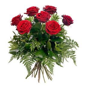 Ankara kaliteli taze ve ucuz çiçekler  7 adet kırmızı gülden buket