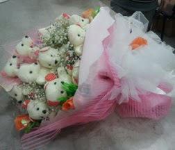 Ankara çiçek servisi , çiçekçi adresleri  21 adet ayıcıktan ayı buketi