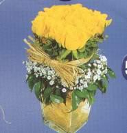 Ankara çiçek siparişi sitesi  Cam vazoda 9 Sari gül