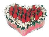 Ankaraya çiçek yolla  mika kalpte kirmizi güller 9