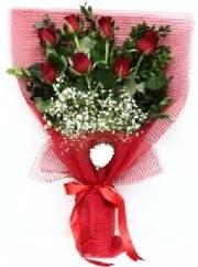 7 adet kırmızı gülden buket tanzimi  Ankara güvenli kaliteli hızlı çiçek