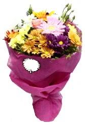 1 demet karışık görsel buket  Ankara çiçek siparişi sitesi