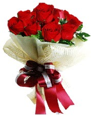 Görsel 12 adet kırmızı gül buketi  Ankara kaliteli taze ve ucuz çiçekler