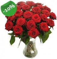Vazo içerisinde 25 adet kırmızı gül  Ankara güvenli kaliteli hızlı çiçek
