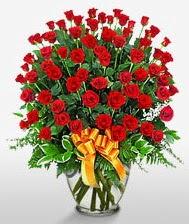 Görsel vazo içerisinde 101 adet gül  Ankara güvenli kaliteli hızlı çiçek