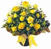 Ankara ucuz çiçek gönder  Sari gül karanfil ve kir çiçekleri