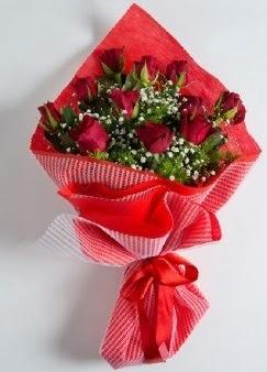11 adet kırmızı gülden buket  Ankara kaliteli taze ve ucuz çiçekler