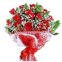 11 kırmızı gülden buket  Ankara çiçekçi mağazası