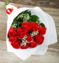 9 kırmızı gülden buket çiçeği  Ankara çiçekçi telefonları