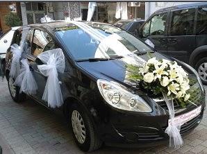 Çiçekli gelin arabası süslemesi