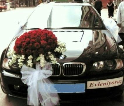 Görsel gelin arabası süslemesi  Ankara çiçek siparişi vermek