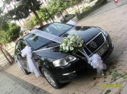 Sade gelin arabası süslemesi  Ankara online çiçek gönderme sipariş