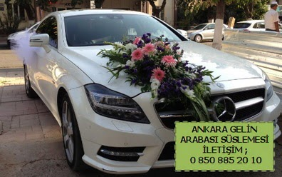 Ankara gelin araba süsü süslemesi  Ankara çiçek siparişi vermek