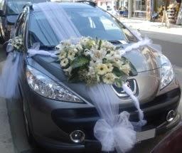 Araba süsü süslemesi  Ankaraya çiçek yolla