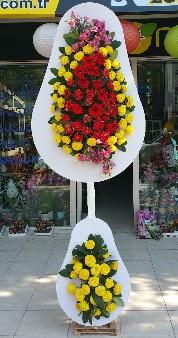 Düğün nikah açılış Çiçeği Çift katlı sepet  Ankara hediye sevgilime hediye çiçek