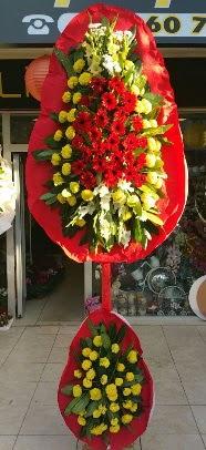 Çift katlı düğün açılış çiçek modeli  Ankara internetten çiçek siparişi