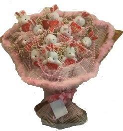 12 adet tavşan buketi  Ankara çiçek siparişi vermek