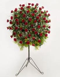 71 adet kırmızı gülden ferförje çiçeği  Ankara 14 şubat sevgililer günü çiçek