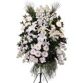 Ankara güvenli kaliteli hızlı çiçek  Ferforje beyaz renkli kazablanka