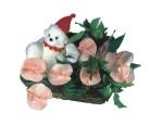 Ankara kaliteli taze ve ucuz çiçekler  Sepette  oyuncakli antoryumlar