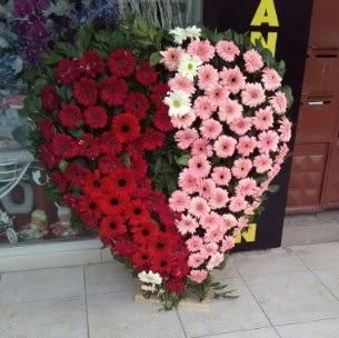 Kalp pano kalp şeklinde pano çiçeği  Ankara anneler günü çiçek yolla